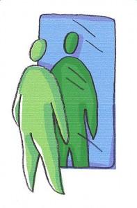דמות מול מראה